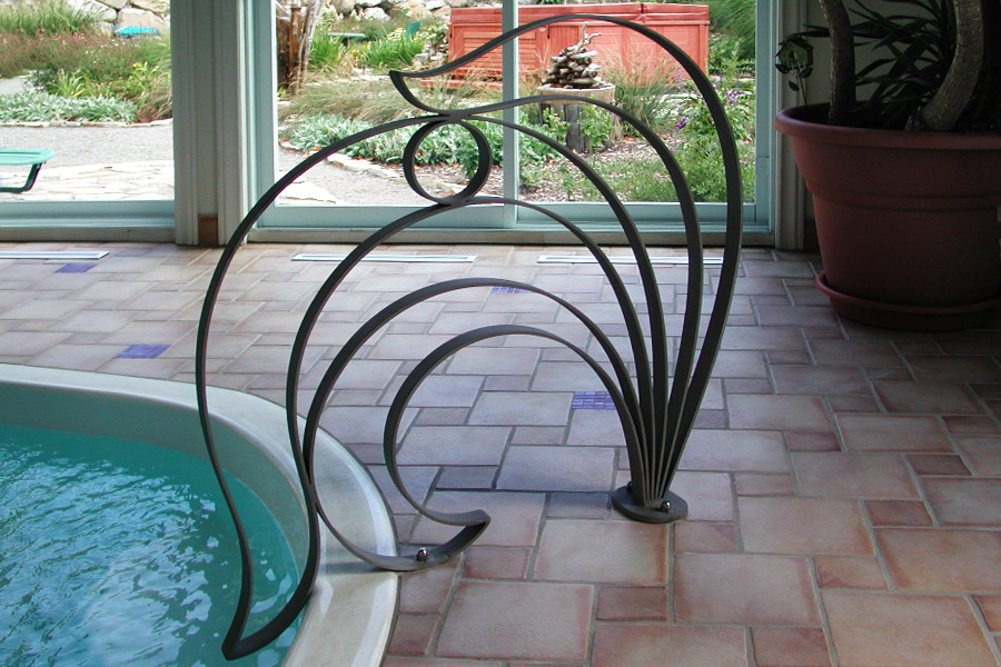 Atelier victor rotar garde corps for Cloture fer forge pour piscine