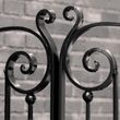 Decorative element of the wrought iron gate
