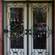 Wrought iron gate grill